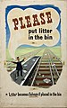 INF3-218 Salvage Please put litter in the bin... (waste paper on railway lines).jpg