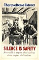 INF3-247 Anti-rumour and careless talk There's often a listener - silence is safety.jpg