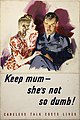 INF3-270 Anti-rumour and careless talk Keep mum - she's not so dumb.jpg