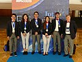 IPhO-2019 07-14 team Romania medals.jpg