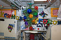 ISS-34 Christmas decoration in the Zvezda module.jpg
