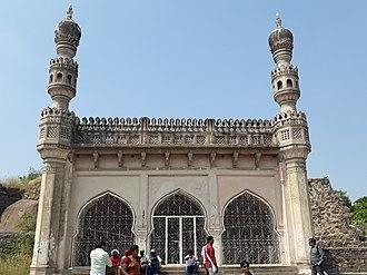 Ibrahim Quli Qutb Shah Wali - Mosque attributed to Ibrahim Quli Qutb Shah in Golconda Fort