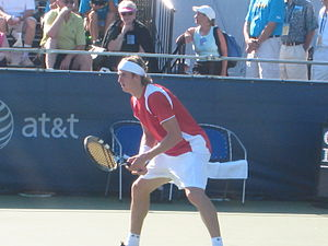 Igor Andreev - Andreev at the 2008 Pilot Pen Tennis tournament