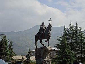 Ijevan - The statue of king Ashot Yerkat in Ijevan