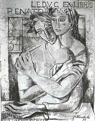 Renato Leduc - Illustration from Poemas en Paris por Federico Cantú