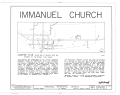 Immanuel Episcopal Church, Second Street, La Grange, Fayette County, TN HABS TENN,24-LAGRA,2- (sheet 1 of 7).png