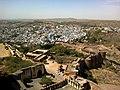 Inde Rajasthan Jodhpur Fort Daulat Khanal Phul Mahal Vue Ville Bleue - panoramio.jpg
