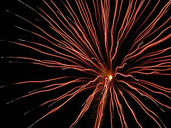 English: Fireworks display