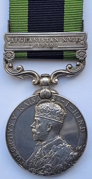India General Service Medal (1909) - Image: India General Service Medal Obverse (1909)