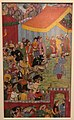 India mughal ca 1595 - court under Akbar with a cheetah IMG 9521 Museum of Asian Civilisation.jpg