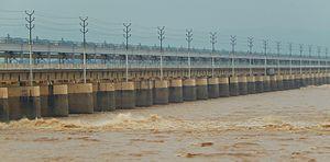 Indrapuri Barrage - Image: Indrapuri dam front