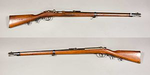 Mauser Model 1871 - Image: Infanteriegewehr m 1871 Jägertruppen Mauser Tyskland kaliber 10,95mm Armémuseum