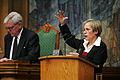 Ingibjorg Solrun Gisladottir (s) Island, talar vid Nordiska radets session i Kopenhamn 2006.jpg
