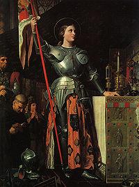 Jeanne d'Arc au sacre du roi Charles VII, dans la cathédrale de Reims   Dominique Ingres (1854)