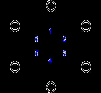 Inositol - Image: Inositol structure