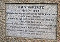 Inscription to HMS Warspite, Marazion - geograph.org.uk - 923325.jpg