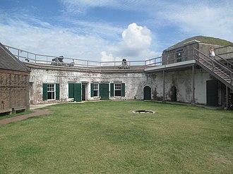 Fort James Jackson - Inside Fort James Jackson