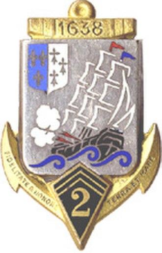 2nd Marine Infantry Regiment - Image: Insigne régimentaire du 2e Régiment d'Infanterie de Marine