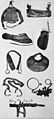 Instruments and apparatus of restraints used in Hanwell. Wellcome L0005892.jpg