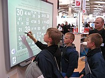 Interactive whiteboard at CeBIT 2007.jpg