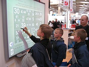 English: Interactive whiteboard at CeBIT 2007 ...