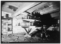 Interior 'turn table', front cellar shelves. - Jean Hasbrouck House, Hugenot Street, New Paltz, Ulster County, NY HABS NY,56-NEWP,3-16.tif