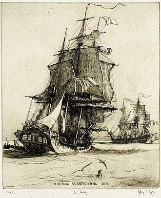 HMS Investigator (1801) - Image: Investigator
