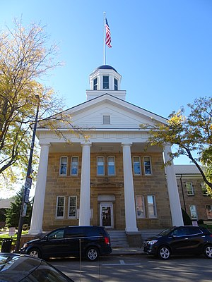 Dodgeville, Wisconsin - The Iowa County Courthouse in Dodgeville