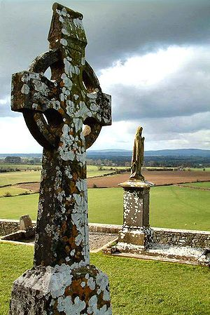 High Cross at the Rock of Cashel in Ireland