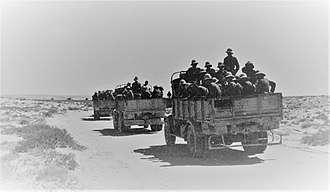 Siege of Giarabub - Image: Italian troop convoy on its way to relieve the Siege of Giarabub