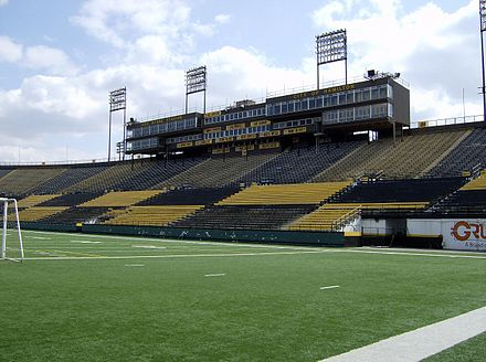 Ivor Wynne Stadium, former home of the Tiger-Cats. IvorWynneStadium Hamilton.jpg