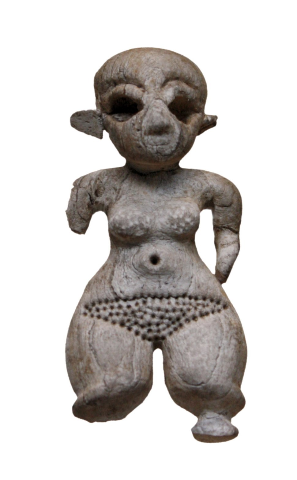 Ivory statuette of a woman with dwarfism-IMG 4539-white
