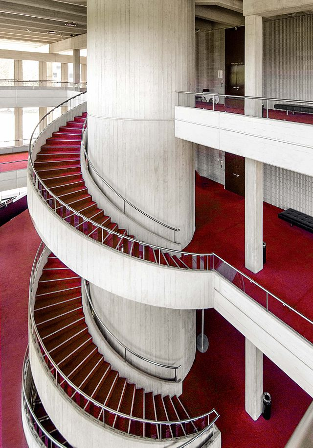 The best brutalist buildings around the world page for Square spiral staircase plans hall