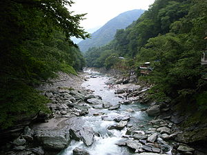 Tokushima Prefecture - View of Iya Valley, Miyoshi