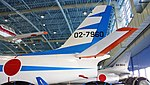 JASDF F-86F(02-7960) stabilizer left side view at Hamamatsu Air Base Publication Center November 24, 2014.jpg
