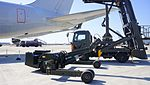 JASDF MHU-83D E Aerial Stores lift truck at Komaki Air Base February 23, 2014 02.jpg