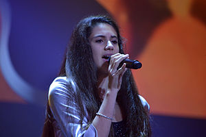 Macedonia in the Junior Eurovision Song Contest - Image: JESC 2013 (Macedonia) Barbara Popović at rehearsal 2