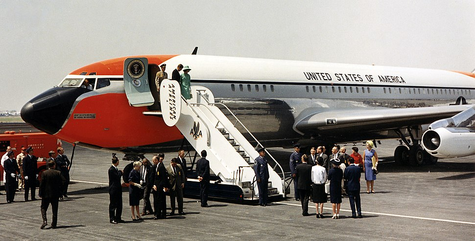 JFK exiting Air Force One