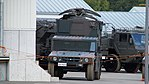JGSDF High Mobility Vehicle(06-7523) with shelter of JMRC-C6-B front view at Camp Itami October 8, 2017.jpg
