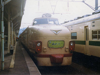 Midori (train) - A 485 series EMU on a Midori service, circa 1985