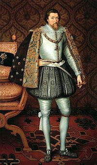 Le roi Jacques Ier d Angleterre (Jacques VI d Écosse) peint par Paulus van Somer.
