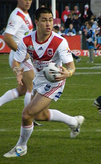 Jamie Soward - Soward playing for the Dragons in 2008
