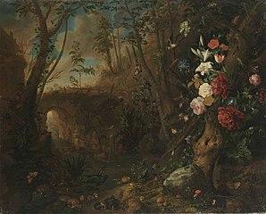 Blumen in einer Bachlandschaft (Kopie nach)
