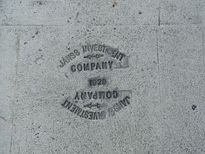 Janss Investment Company - Janss Investment Company, 1929. Sidewalk on Hilgard Avenue in Westwood, Los Angeles, California.
