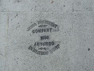 Janss Investment Company - Janss Investment Company, 1929. Sidewalk on Hilgard Avenue in Westwood, Los Angeles, California.