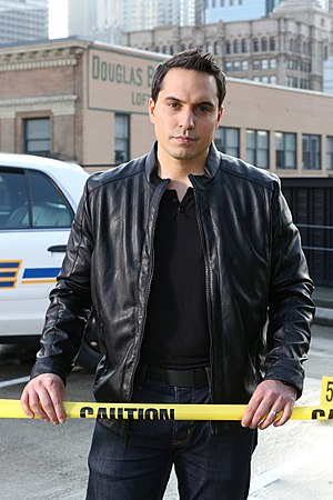 "Jason Mattera - Mattera during the filming of his Emmy award-winning show, ""Crime Watch Daily."""