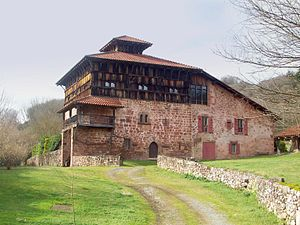 Spanish conquest of Iberian Navarre - Jauregizarre, a 16th-century tower house north of Navarre, home to the Ursua, a clan of notaries