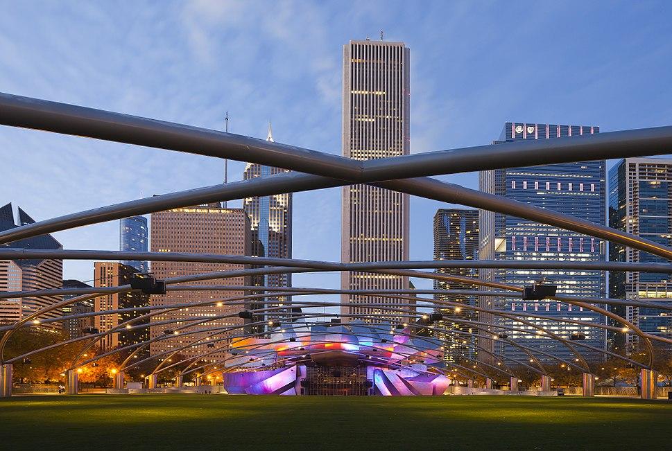 Jay Pritzker Pavilion, Chicago, Illinois, Estados Unidos, 2012-10-20, DD 09