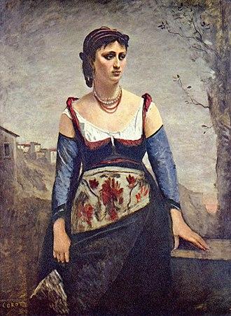 Agostina Segatori - Image: Jean Baptiste Camille Corot 001