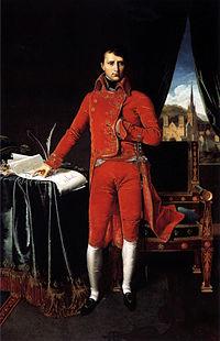 Bonaparte, Premier Consul   (Ingres) symbolise la réconciliation entre la République et le Vatican.